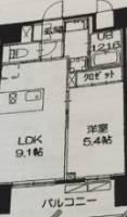 OYO LIFE #1372 クレアツィオーネ赤坂[2階]の間取り