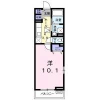 神奈川県平塚市撫子原の賃貸アパートの間取り