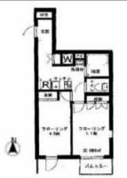 東京都新宿区大久保1丁目の賃貸マンションの間取り