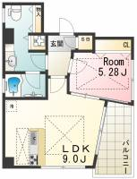 POCO A POCO三宮ハイタワー[12階]の間取り