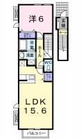 兵庫県神戸市西区玉津町居住の賃貸アパートの間取り