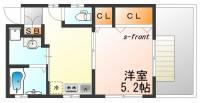 兵庫県神戸市中央区神若通6丁目の賃貸アパートの間取り
