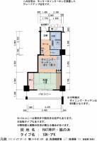 兵庫県神戸市中央区脇浜海岸通3丁目の賃貸マンションの間取り