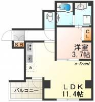 マイファーレ神戸[8階]の間取り