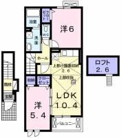 キートスⅡ[2階]の間取り