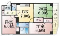 ロイヤルメゾン東須磨[1階]の間取り
