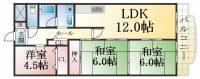 ルネ須磨[5階]の間取り