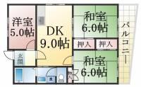 兵庫県神戸市須磨区北落合1丁目の賃貸マンションの間取り