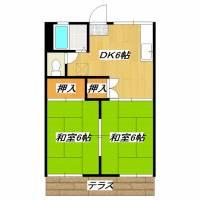 第3グリーンビラ[2階]の間取り