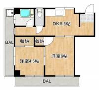 ムーンライトマンション[3階]の間取り