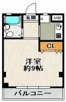 Residence KM2号館[102号室]の間取り