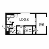 北海道札幌市東区北二十三条東15丁目の賃貸マンションの間取り