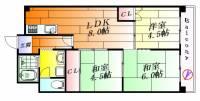 メゾン千里中央[4階]の間取り