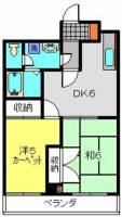 第1八千代ビル[404号室]の間取り