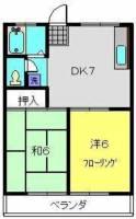 ハイツタカハシ[206号室]の間取り
