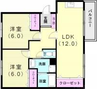 メゾンフレール[3階]の間取り