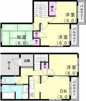 [タウンハウス] 兵庫県神戸市西区今寺 の賃貸【兵庫県 / 神戸市西区】の間取り