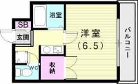 兵庫県神戸市長田区平和台町2丁目の賃貸アパートの間取り