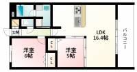 Welina江坂[4階]の間取り