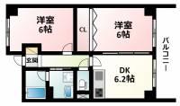 緑地JIROⅡ[4階]の間取り