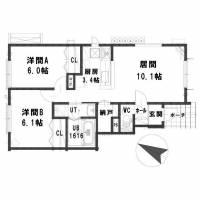 北海道札幌市西区宮の沢四条4丁目の賃貸アパートの間取り