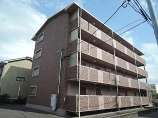 愛知県北名古屋市鹿田西赤土の賃貸マンションの外観