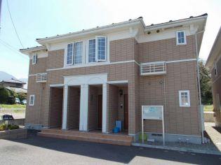 長野県須坂市大字野辺の賃貸アパートの外観