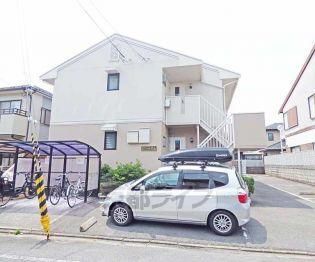 京都府京都市北区紫竹上緑町の賃貸アパートの外観