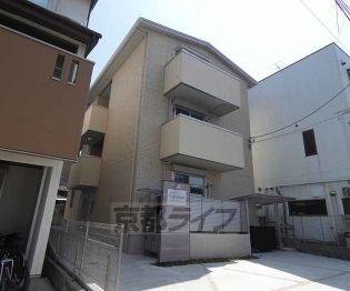 京都府京都市伏見区深草北新町の賃貸アパートの外観