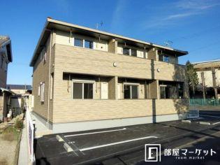 愛知県西尾市寺津町白山の賃貸アパートの外観