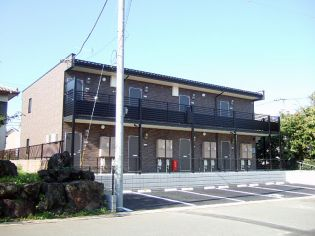 埼玉県東松山市美原町2丁目の賃貸アパートの外観